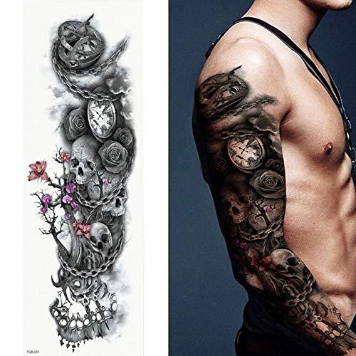 tzxdbh 5Pcs- Tatuaggi A Braccio Pieno, Adesivi per Tatuaggio Impermeabili Femminili A Doppia Pistola...