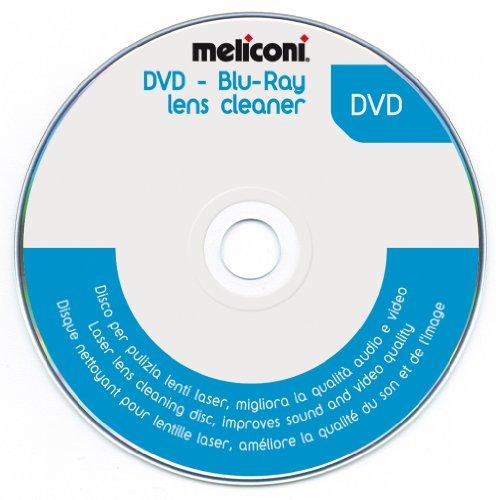 Meliconi, DVD Blu-ray Lens Cleaner, disco per la pulizia dei DVD. Migliora qualità audio e video