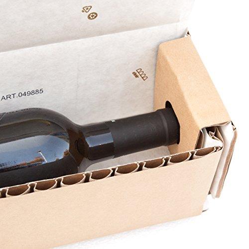 Scatola per bottiglie cArtù: la confezione ecologica per la spedizione di bottiglie con altezza tra...