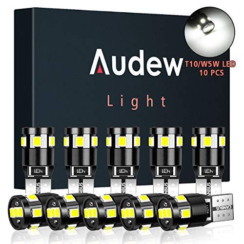 Audew 10 x T10 W5W LED CANBUS Auto Targa Lampade 9 x 2835SMD LED 12V 4882K Cuneo Tipo Lampadine Per...