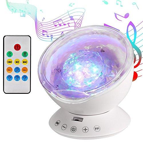 Luce Proiettore, Lampada Proiettore Oceano Onda, Lampada Notturna 7 Modalità e 4 Tipi di Musica,...