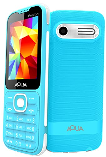 "Aqua Fusion - 2.4"" Dual SIM Basic Keypad Mobile Phone with Auto Call Recording Feature - Blue"