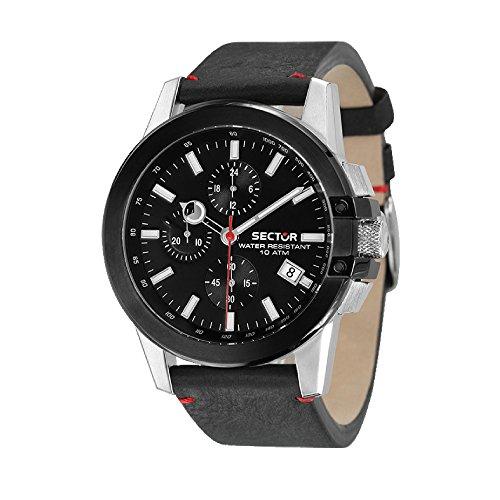 SECTOR Orologio Cronografo Quarzo Uomo con Cinturino in Pelle R3271797004