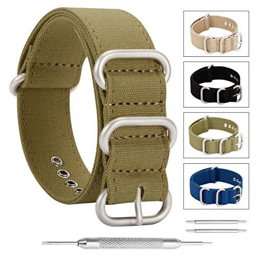 24 millimetri esercito orologio verde militare di lusso esotico nylon tela stile NATO sostituzione cinghie bande per gli uomini