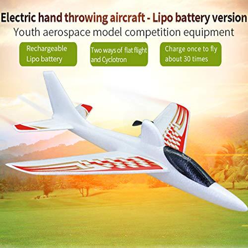 CarJTY GL Aliante per Aeroplano da Lancio a Mano con Lunghezza in EPP 400mm Elettrico con Batteria...