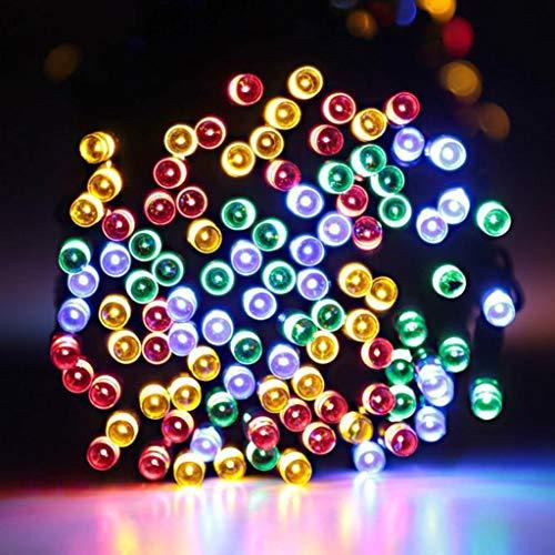 TianranRT Solar Power Fairy Light String Lampada Party Xmas Decor Outdoor RF 14M 120LED,Corda...