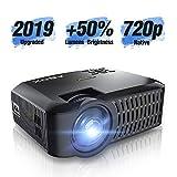 Mini Proiettore, ABOX A2 Videoproiettore Portatile Nativa HD 1280*720p?1080p Supporto) 176 '' Display Aumento del 60% di Luminosità, Compatibile con Fire TV Stick / PS4 / TV Box/Cellulare/Micro SD