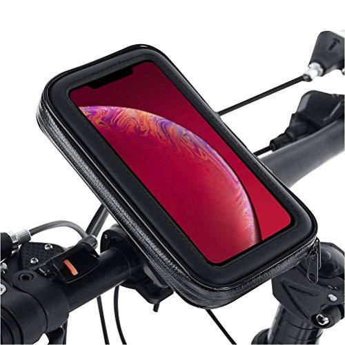 AR-Gun Soporte movil Moto sujeción de Extrema dureza Sistema Anti-caídas Funda estanca válida para Todos los Smartphones Soporte movil en Moto Soporte Moto movil Soporte movil para Moto Negro