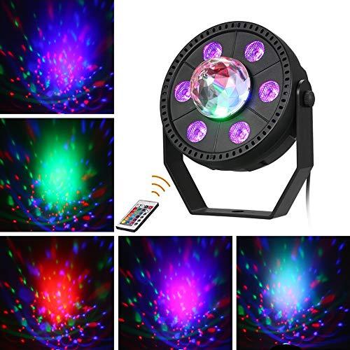 CITRA DJ Par Ball Laser Light 6 LEDs 30W 512 RGBW with 24 Key Remote Controller Color Mixing Wash Can Par Light for Disco Diwali Wedding Party Show Live Concert Stage Lighting