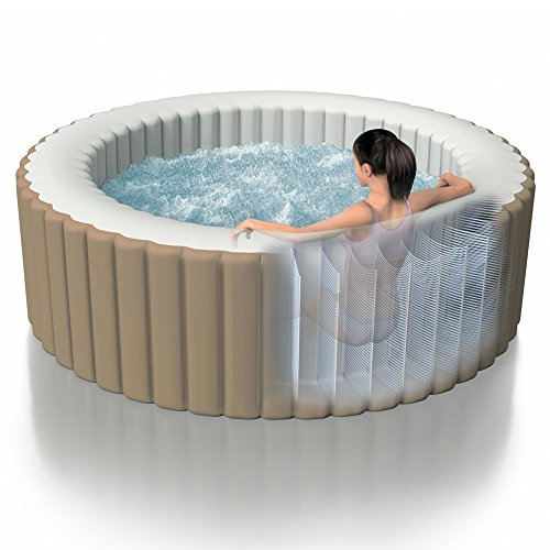 The PureSpa is designed to offer remarkable structural stability and a comfortable relaxing surface at the same time. This owes to the patented Fiber-Tech construction that consists of thousands of high-strength strands. Combined with laminate PVC, the result is a heavy duty outer surface that is puncture-resistant and should to last longer than ordinary spas.