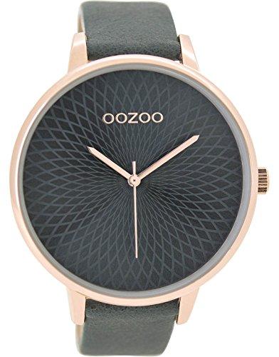 Oozoo Damenuhr mit Lederband 48 MM Rose/Silberfarben/Weiss C9520