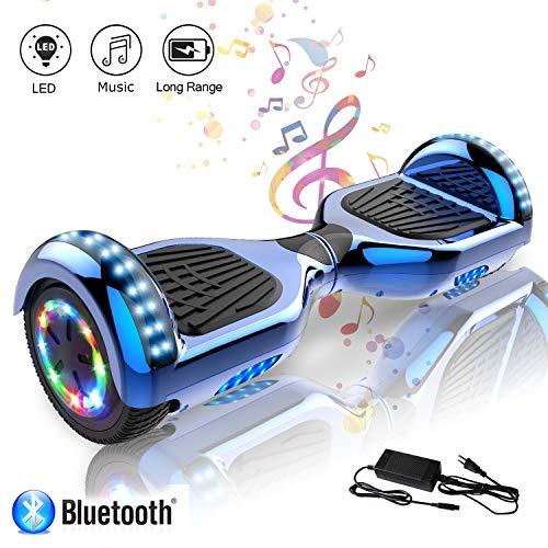 COLORWAY Hoverboard 6.5'' Smart Scooter Auto Bilanciamento Bluetooth elettrico e LED Multicolor...