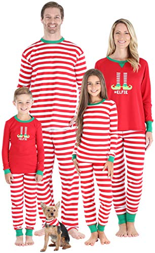 Sleepyheads Conjuntos de Pijama Elfie Christmas Family Mix and Match Pijama de Rayas Rojas Elfie (SHM-5087-K-ELF-EU-4T)