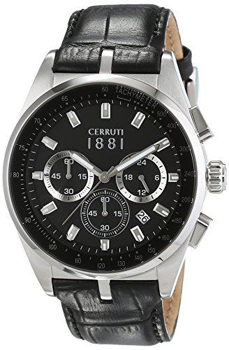 Cerruti 1881 Herren-Armbanduhr VELIERO Analog Quarz Leder CRA089A222G