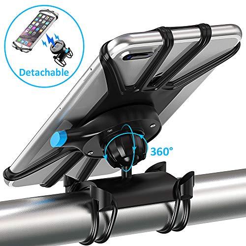 Bovon Porta Cellulare Bici, [One-Key Staccabile] Rotazione a 360° Supporto Smartphone per Bici,...