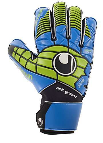 Uhlsport Eliminator PRO Guanti da Portiere Nero/Blu/Verde Power Dimensioni 7