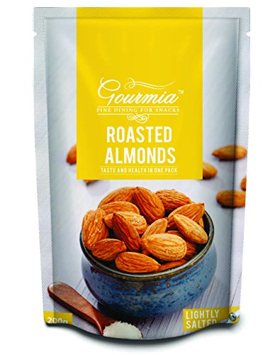 Gourmia Roasted Almonds, Lightly Salted, 200g