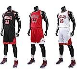 Chico Hombre NBA Michael Jordan # 23 Chicago Bulls Retro Pantalones Cortos de Baloncesto Camisetas de Verano Uniformes y Tops de Baloncesto Uniformes
