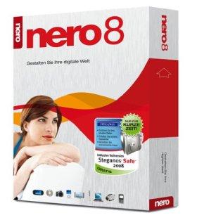 Nero 8 inkl. Steganos Safe 2008 - limitierte Auflage [import allemand]