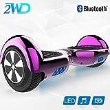 2WD Hoverboard 6.5'' ElektroScooter Rad-selbstausgleichender Roller Zwei mit Bluetooth LED-Licht-elektrischem Roller 6.5