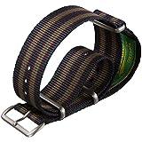 Cinturino Geckota® in nylon, Militare NATO, Bond Vintage, Blu/Rosso/Verde, 18mm a 24mm