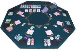 Goods & Gadgets Faltbare Pokerauflage Poker Auflage Aufsatz Tischauflage 120 x 120 cm für 8 Personen