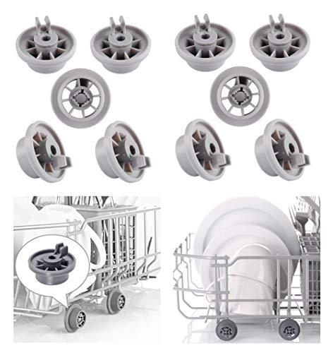 Ruote Cestello Lavastoviglie Rotella Bosch clip 165314 per Bosch Neff Siemens Lavastoviglie Rack...