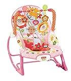 Fisher-Price Hamaca crece conmigo conejitos divertidos, color rosa, juguetes bebe (Mattel Y8184)