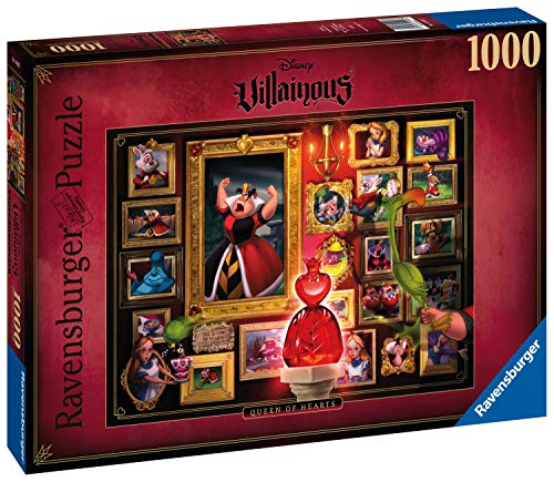 Ravensburger Villainous: Queen of Hearts Puzzle 1000 Pezzi - Disney, Multicolore, 15026