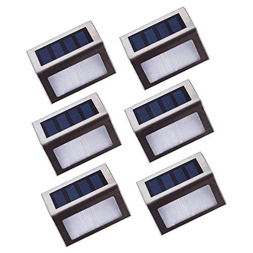 Asvert 6 Pezzi Luci per Esterno Solari Lampada Led Solare Impermeabile Automatico per Giardino...