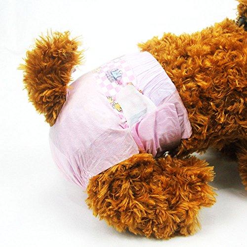 Dono Femmina Cucciolo di Cane Pannolini USA e Getta Super Assorbente Sanitario Pantaloni Pannolini Disponibili Varie Dimensioni (XXS-m) (XXS 20count (7'-10'))