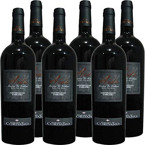 Montepulciano d'Abruzzo Dop | Aida Marchesi de Cordano | Vino Rosso D'Abruzzo | Confezione da 6 Bottiglie da 75 Cl | Idea Regalo