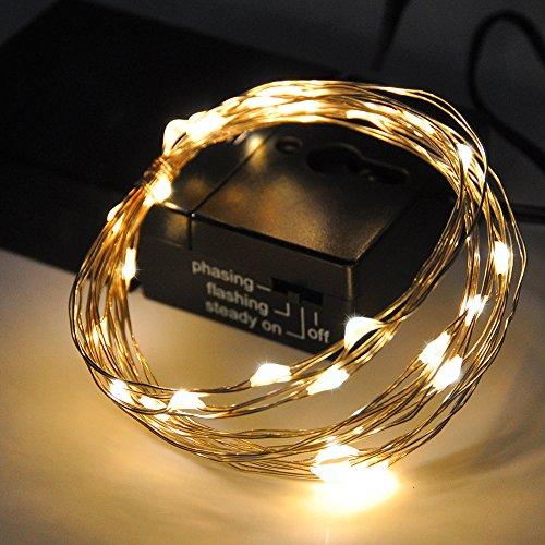 Catene Luminose Luce Stringa Filo di Rame Luci a LED Colorato Interno 30 LED 3 Metri Illuminazione...