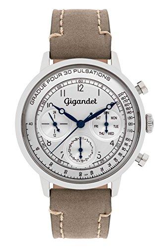 Gigandet G45-002-Orologio da uomo, cinturino in pelle, colore marrone