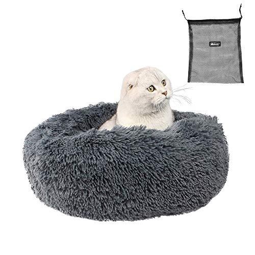 Morbida cuccia per gatti e cani di piccola e media taglia, cuscino rotondo, cuccia portatile per...