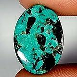 09.55CTS 100% naturale classico Tibet turchese cabochon ovale gemma trattata