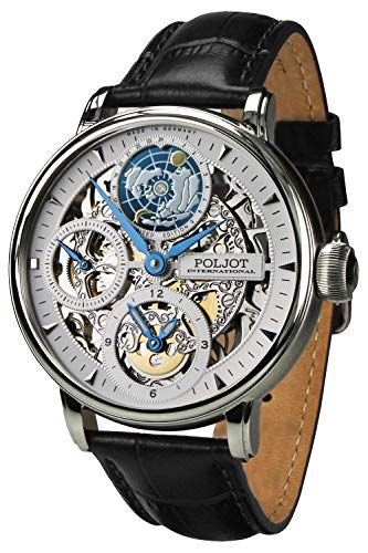 Poljot International Herrenuhr Double Timer Globetrotter 9730.2940551