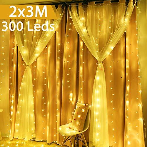 LuciNataleEsterno, GlobaLink CatenaLuminosa 50M 2000 LEDs StringaLuciLed Impermeabili, 8...