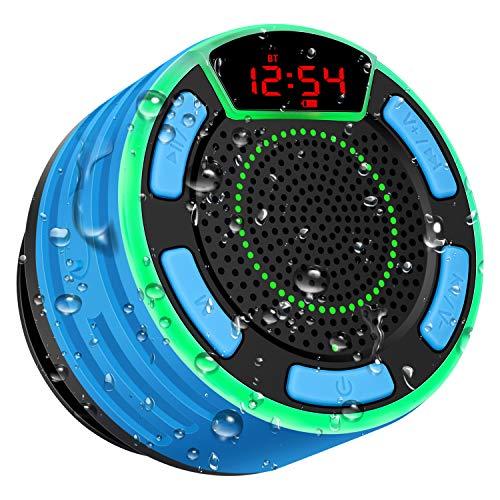 Altoparlante Bluetooth, moosen Cassa Portatile per doccia Senza fili Bluetooth impermeabile IPX7 con...
