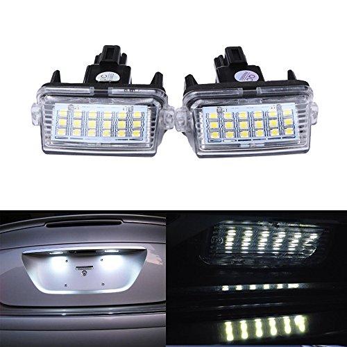 Haichen 2PCS 18 LED bianco lampada luce targa, auto parcheggio lampada esterna luci