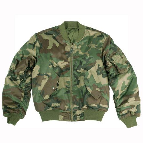 Mil-Tec MA-1 Volo giacca Woodland Taglia 3XL