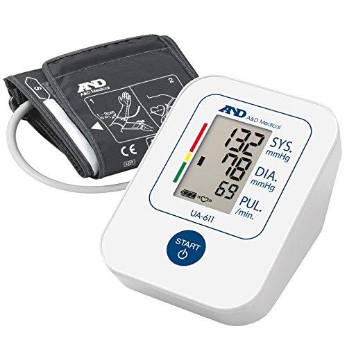 A&D Medical UA-611 Misuratore di Pressione da Braccio Digitale, Clinicamente Validato