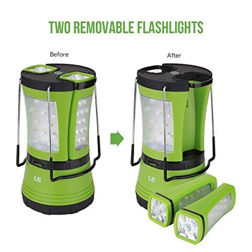 LE Lanterne de Camping LED Rechargeable par port USB,600lm, avec 2 ...