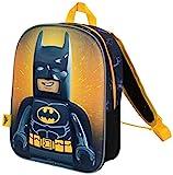 Zainetto Asilo Bambino Lego Movie 2 Batman Zaino Elementari Supereroe con Stampa 3D