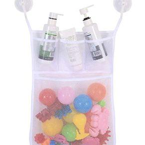Ogquaton Baño para bebés Premium Organizador de juguetes Bolsas de malla Organizador de baño Bolsa de succión colgante