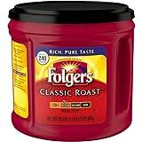 Folgers Classic Roast Medium Roast Ground Coffee 865g Tub Makes Up To 240 Cups