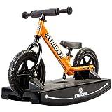 Strider 12 Sport Balance Bike and Baby Rocking Base (Orange) 6+ months