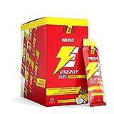Prozis 24 x Energy Gel + Caffeine Fácil de Llevar Fuente de Hidratos de Carbono de Elevada Disponibilidad Enriquecido con Beta-Alanina y Cafeína, Piña Colada - 25 g