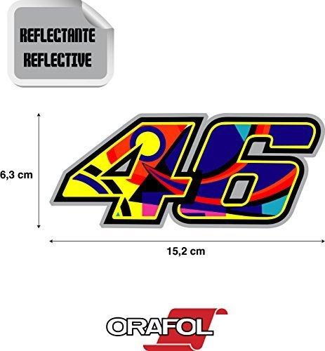 Pegatinas moto adhesivo valentino rossi 46 reflectante alta calidad 15,2 cm x 6,3 cm 1 unidad