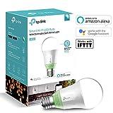 TP-Link Ampoule LED connectée WiFi, culot E27 , Lumière Ambiance Blanche, 10W, fonctionne avec Amazon Alexa (Echo et Echo Dot), Google Assistant et IFTTT pour la commande vocale, lumière blanche personnalisable froid/chaud, pas de Hub requis [Classe énergétique A+] - LB110